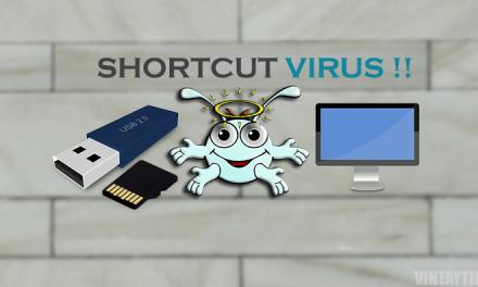 Menghilangkan atau  menghapus Virus Shortcut tanpa Antivirus