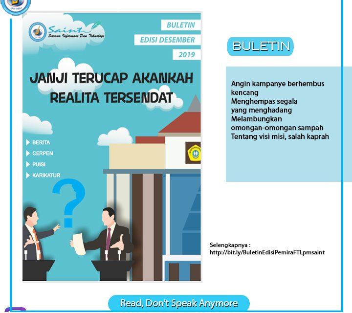 Buletin Edisi PEMIRA Fakultas Teknik